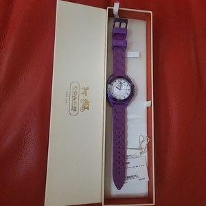 Like New BoyFriend Coach Purple Watch